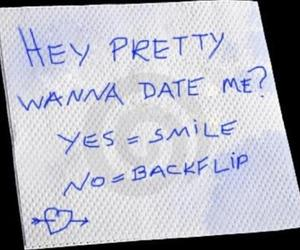 date, pretty, and smile image