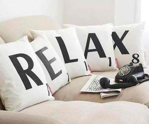 relax, pillow, and home image