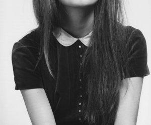 black, black and white, and hipster image