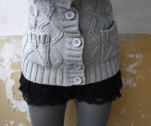 fashion, buttons, and lace image