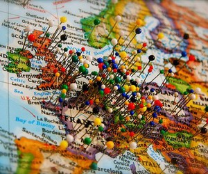 travel, map, and europe image