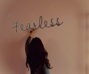 be strong, don't give up, and fearless image