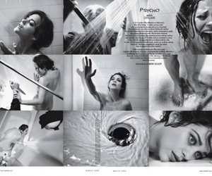 black and white, Marion Cotillard, and Vanity Fair image
