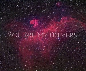 universe, galaxy, and you image