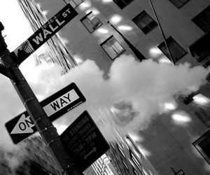 black and white, photography, and city image
