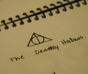 harry potter, the deathly hallows, and potterhead image