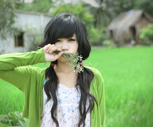 girl, asian, and cute image