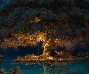 tree, art, and disney image