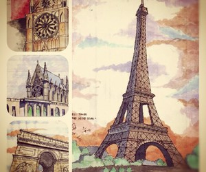 draw, paris, and france image