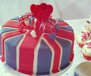 cake, london, and heart image
