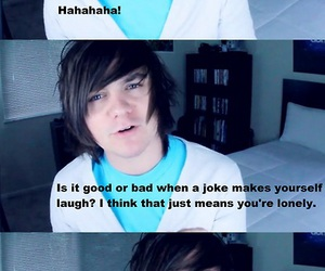 laughing, mitchell davis, and forever alone image