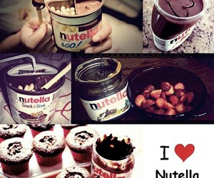 chocolate, sweet, and nutella image