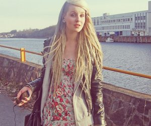 girl, dreads, and blonde image