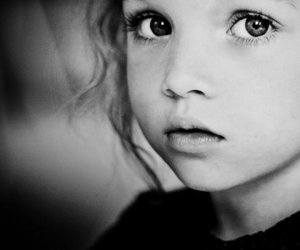 eyes, child, and black and white image