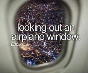 airplane, window, and light image