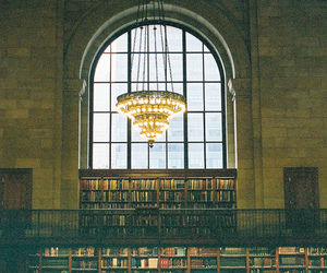 library, book, and light image