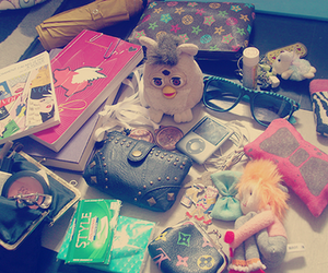 books, furby, and ipod image