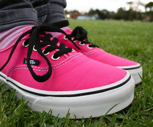vans, pink, and cute image
