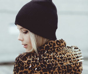 fashion, girl, and leopard image
