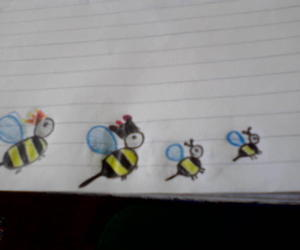 bees, colorful, and yellow image