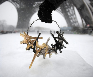 winter, france, and paris image