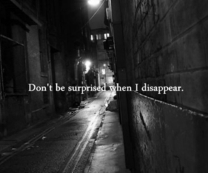 disappear, sad, and quote image