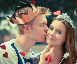 love, couple, and princess image
