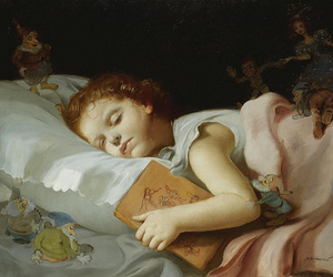 art, child, and book image