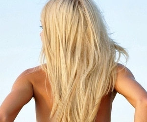 beach, blonde, and tan image