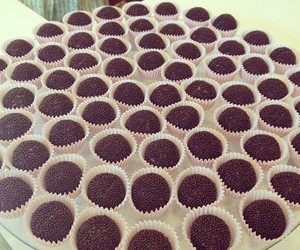 chocolate, brigadeiro, and food image