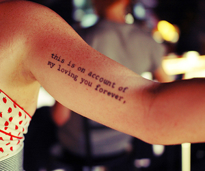 tattoo, arm, and quote image