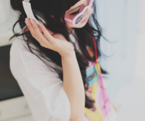 girl, listening, and cute image