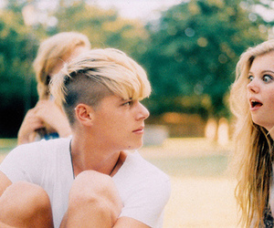 girl, boy, and blonde image