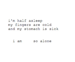 alone, cold, and sick image