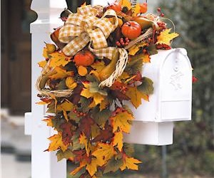 still life, fall decoration, and fall mailbox image