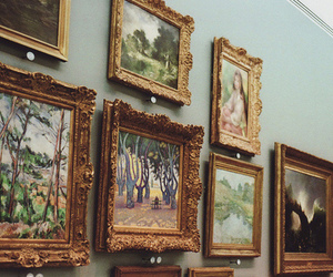 art, vintage, and painting image