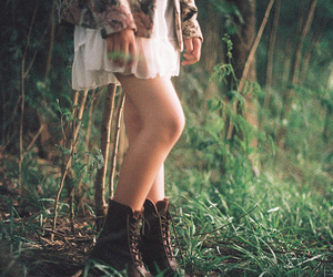 girl, boots, and nature image