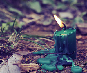 candle, green, and fire image