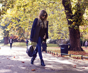 autumn, boots, and brunette image