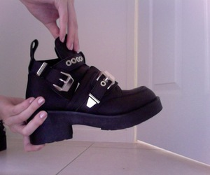 pale, shoes, and black image