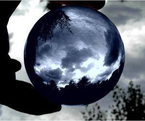 crystal, sky, and grey image