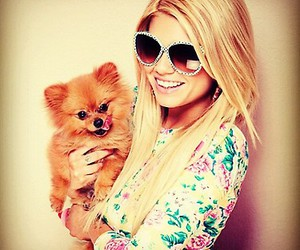 cute, blonde, and dog image