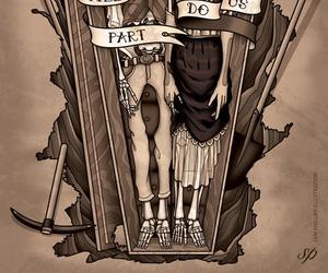 couple, death, and illustration image