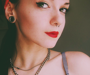 girl, piercing, and Pin Up image