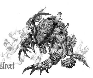 final fantasy and ifrit image
