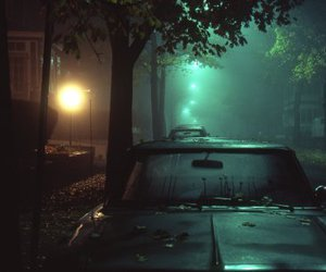 car, night, and dark image