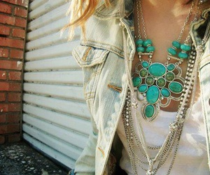 fashion, necklace, and turquoise image
