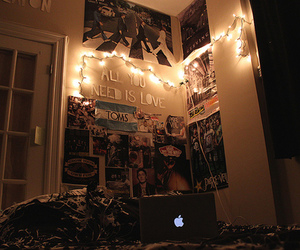 light, room, and posters image