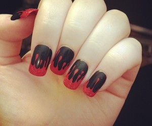 nails and blood image