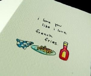 love, French Fries, and fries image